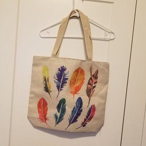 A&O International Feather Canvas Tote